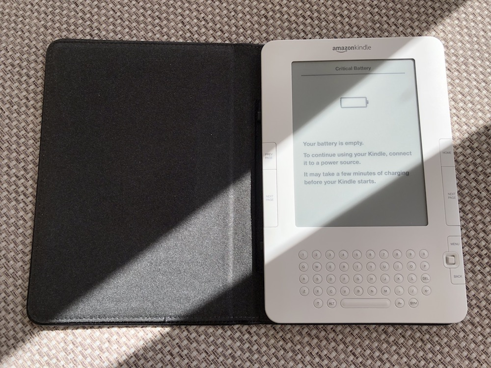 My old second-generation Kindle